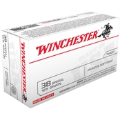 Winchester USA .38 Special 125 Gr. JSP, 50 Rounds