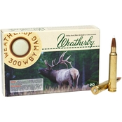 Weatherby Select Plus .300 Weatherby 180 Gr. Nosler AccuBond, 20 Rounds