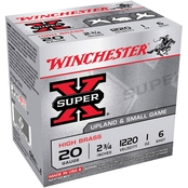 Winchester Super-X 12 Ga. 2.75 in. #6 2.75 Dram 1 oz. Shotshell, 25 Rounds