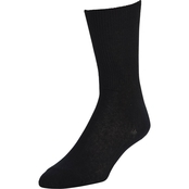 DLATS Black Cotton Nylon Socks
