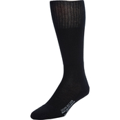 DLATS Cotton Nylon Wool Black Socks
