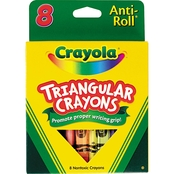 Crayola Anti Roll Triangular Crayons 8 pk.