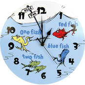 Trend Lab Wall Clock Dr. Seuss 1 Fish 2 Fish