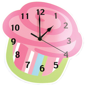 Trend Lab Wall Clock, Cupcake
