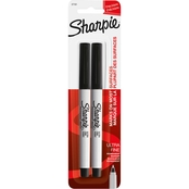 Sharpie Permanent Ultra Fine Point Markers, Black 2 ct.