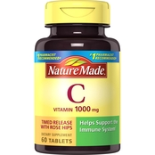 Nature Made Vitamin C 1000 mg Timed Release with Rose Hips Tablets 60 Ct.