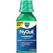 Vicks NyQuil Cold and Flu Nighttime Relief Liquid 12 oz.