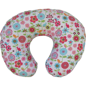 Boppy Bare Naked Pillow with Backyard Blooms Slipcover