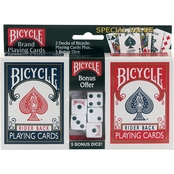 Bicycle Standard Index Playing Cards 2 pk. and 5 pc. Dice Set