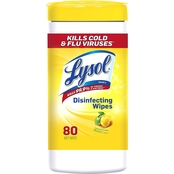 Lysol Disinfecting Wipes 80 Count Canister, Lemon and Lime Blossom