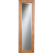 SEI Wall Mount Jewelry Armoire with Oak Finish