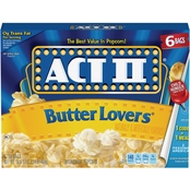 Act II Butter Lovers Microwavable Popcorn Bags 6 Ct.