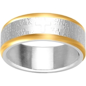 Stainless Steel Lord's Prayer Band