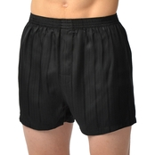 Majestic International Herringbone Stripe Silk Boxer Shorts