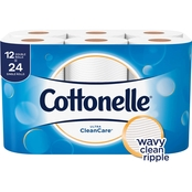 Cottonelle Clean Care Double Roll Toilet Paper 12 pk.