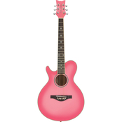 Daisy Rock Wildwood Acoustic Short Scale Guitar Left Handed