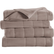 Sunbeam Twin Quilted Fleece Heated Electric Blanket