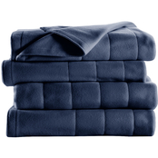 Sunbeam Quilted Fleece Heated Electric Blanket