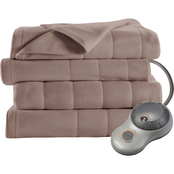 Sunbeam Queen Quilted Fleece Heated Electric Blanket