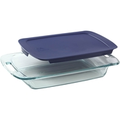 Pyrex Easy Grab 3 Qt. Oblong Glass Baking Dish with Lid
