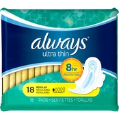 Always Ultra Thin Regular Pads with Wings 18 ct.