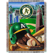 Northwest MLB Oakland Athletics Home Field Advantage Tapestry Throw
