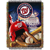 Northwest MLB Washington Nationals Home Field Advantage Tapestry Throw