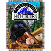 Northwest MLB Colorado Rockies Home Field Advantage Tapestry Throw