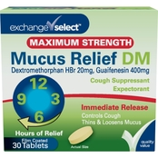 Exchange Select Mucus Relief DM Cough Suppressant and Expectorant 30 ct.