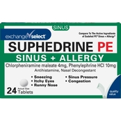 Exchange Select Suphedrine PE Sinus + Allergy Tablets 24 ct.