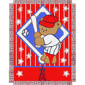 Northwest MLB Los Angeles Angels Triple Woven Jacquard Baby Throw