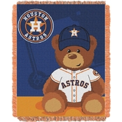 Northwest MLB Houston Astros Triple Woven Jacquard Baby Throw