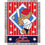 Northwest MLB St. Louis Cardinals Triple Woven Jacquard Baby Throw
