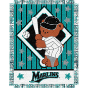 Northwest MLB Miami Marlins Triple Woven Jacquard Baby Throw