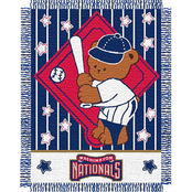 Northwest MLB Washington Nationals Triple Woven Jacquard Baby Throw