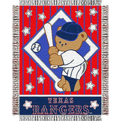 Northwest MLB Texas Rangers Triple Woven Jacquard Baby Throw
