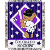 Northwest MLB Colorado Rockies Triple Woven Jacquard Baby Throw