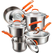 Rachael Ray Stainless Steel II 10 pc. Cookware Set