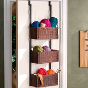 SEI Craft Over the Door 3 Tier Basket