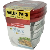 Rubbermaid Glass Food Storage 6 pc. Set with Easy Find Lids