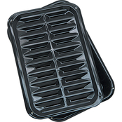Range Kleen 13 x 16 Porcelain Broiler Pan with Porcelain Grill