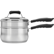 Range Kleen 3 qt. Basic Stainless Steel Double Boiler with Insert and Steamer