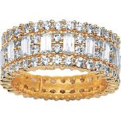 PalmBeach 14K Yellow Gold Plated Cubic Zirconia Eternity Band