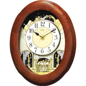 RHYTHM Joyful Nostalgia Oak Clock