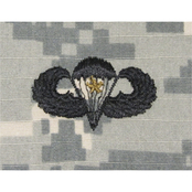 Army Badge Combat Parachutist 1st Award Large Sew-On, Pattern (ACU) 2 pk.