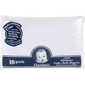 Gerber 10 pk. Prefold Cloth Diapers