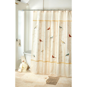Avanti Gilded Birds Shower Curtain