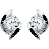 Sirena 14K White Gold 3/8 CTW Diamond Stud Earrings
