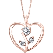 Sirena 10K Rose Gold 1/8 CTW Diamond Heart Pendant