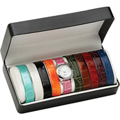 PalmBeach Women's Interchangeable Strap Watch Gift Set 4944975